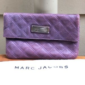 Marc Jacobs quilted fold-over clutch